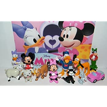 Amazon.com: Disney Minnie Mouse Deluxe Mini Figure and Toy Set of ...