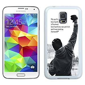 Fashionable Custom Designed Samsung Galaxy S5 I9600 G900a G900v G900p G900t G900w Phone Case With Rocky Balboa Motivational Words_White Phone Case