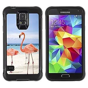 Suave TPU GEL Carcasa Funda Silicona Blando Estuche Caso de protección (para) Samsung Galaxy S5 V / CECELL Phone case / / Pink Beach Flamingo /