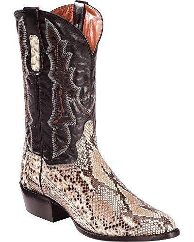 Dan Post Men's Natural Belly Cut Python Cowboy Boot Medium Toe Natural 10 D