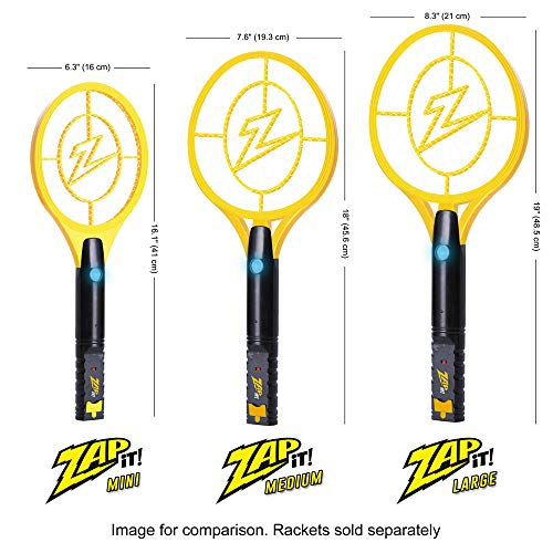 ZAP IT! Bug Zapper - Rechargeable Mosquito, Fly Killer and Bug Zapper Racket - 4,000 Volt - USB Charging, Super-Bright LED Light to Zap in The Dark - Safe to Touch (Mini) by ZAP IT! (Image #2)