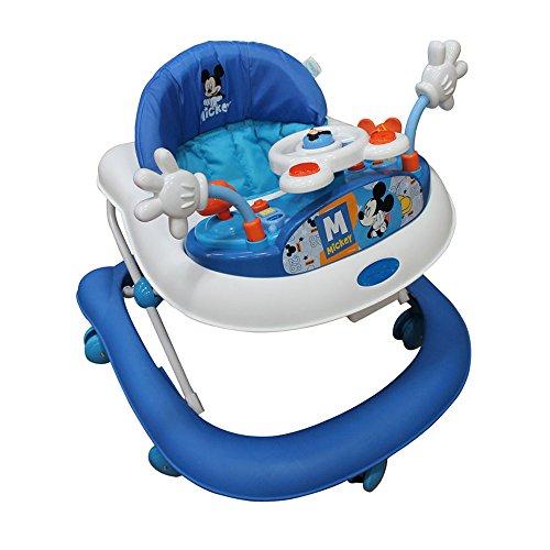 Disney Baby Andadera Mickey Azul con Charola Electrónica, azul