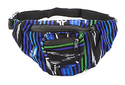 Fabric Fanny Pack - Color Patterns May Vary - Handmade in Guatamala by Funny Guy Mugs