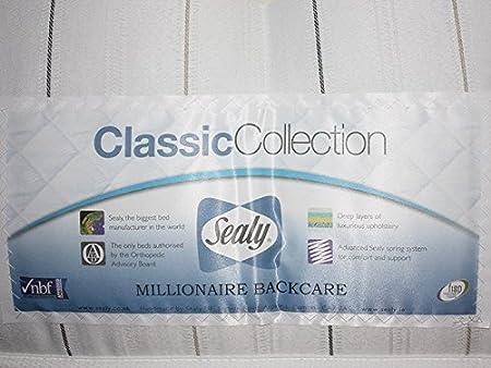 Colchón Sealy Posturepedic Millionaire firme medio para cuidar la espalda, tela vidrio, Matrimonio Reino Unido (150 x 200 cm): Amazon.es: Hogar