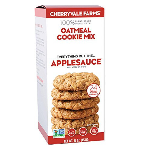 Cherryvale Farms, Oatmeal Cookie Baking Mix, Everything But The Applesauce, Add Fresh Produce, Tastes Homemade, Non-GMO, Vegan, 100% Plant-Based, 16 oz (pack of 1)