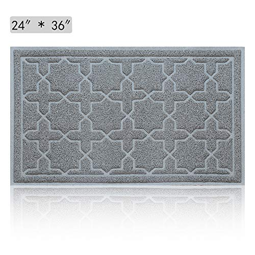 Large Outdoor Indoor Rubber Doormat - Magic Outside Front Welcome Door Mats, Inside Entrance Rugs, Non-slip Low-profile and Waterproof 24