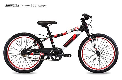 Guardian Lightweight Kids Bike 20 Inch, Safe Patented SureStop Brake System, Kids Mountain Bike, Bike Sizes for Kids 3' 9