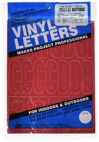 Letters Permanent Adhesive Vinyl - Permanent Adhesive Vinyl Letters & Numbers: 3