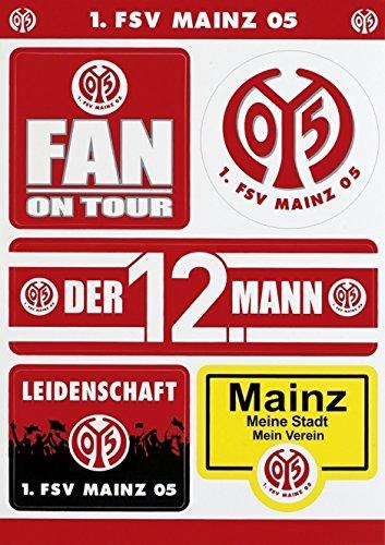 Aufkelberbogen 1. FSV Mainz 05 Aufkleber / sticker / autocollant / etiqueta engomada