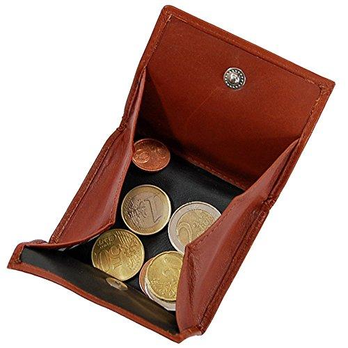 Branco Wiener Schachtel Münzbox Geldbörse Münzbörse Geldbeutel Leder Coin Box GoBago (Natur) Natur 3Bce90F