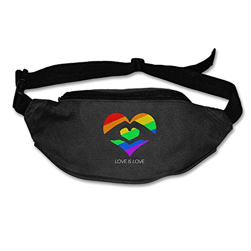 Love Is Love LGBT Hands Love Heart Super Lightweight Fanny Pack Waist Pack For Travel by OEMMIE
