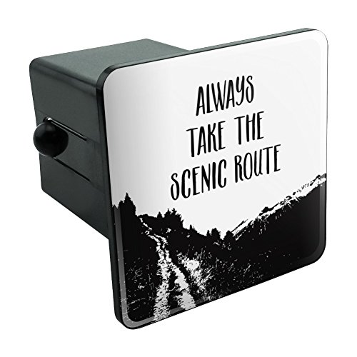"""Graphics and More Always Take The Scenic Route Hiking Travel Tow Trailer Hitch Cover Plug Insert 2"""""""