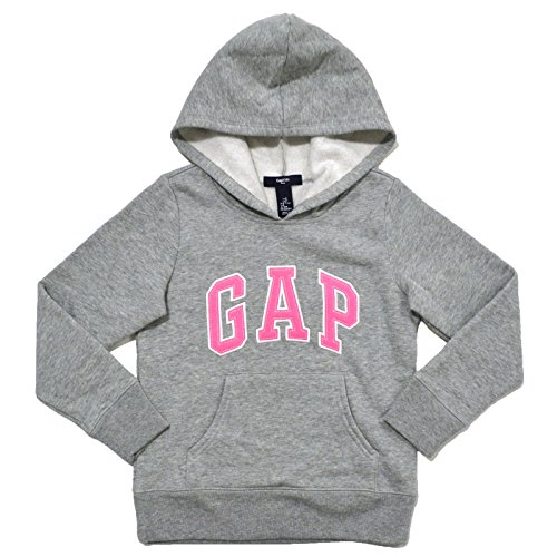 gap-girls-fleece-arch-logo-pullover-hoodie-grey-medium