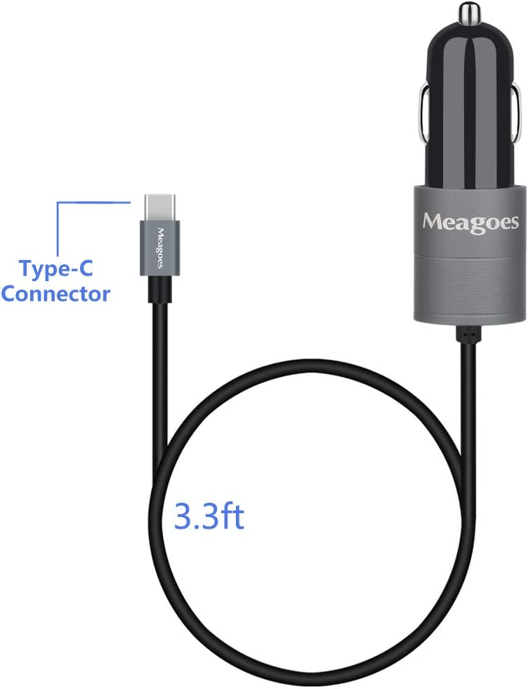 Compatible Moto X4 Meagoes USB C Car Charger Z2 Force//Z2 Play Z3 Play//Z3 Motorola Phones Built-in Straight Type C Charging Cable Cord Quick Charge 3.0 Enabled 4351556885 G7 Plus//Power//Play//G7//G6 Plus//G6