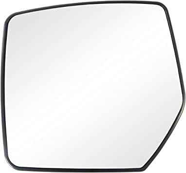 Fit System 33264 Dodge//Jeep Left Side Heated Power Replacement Mirror Glass with Backing Plate