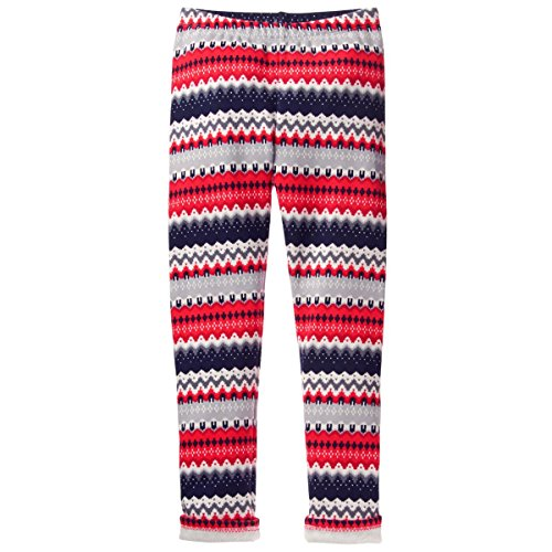Gymboree Girls Warm & Fuzzy Leggings (S, Fair Isle - Pants Fleece Girls Gymboree