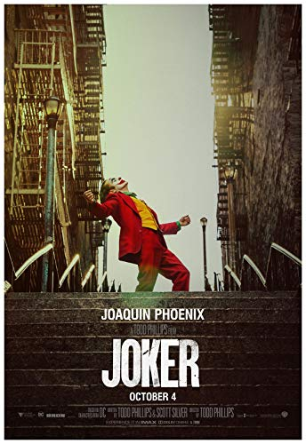 Poster Warehouse Joker Movie Poster 24 x 36 Inches Full Sized Print Unframed Ready for Display Joaquin Phoenix Ships ONLY from The USA. Beware of Other Sellers Sending from China