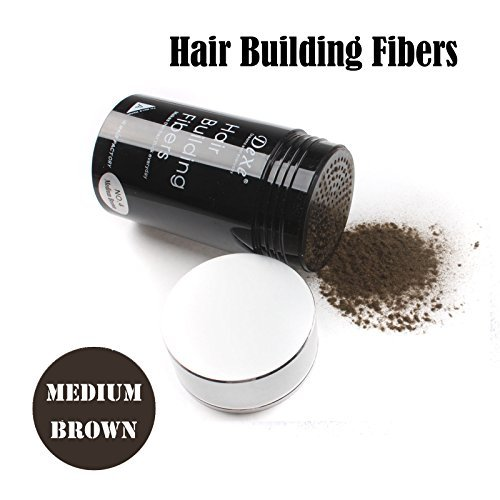 (Easy to Use Lose Hair Building Fibers Medium Brown Color)