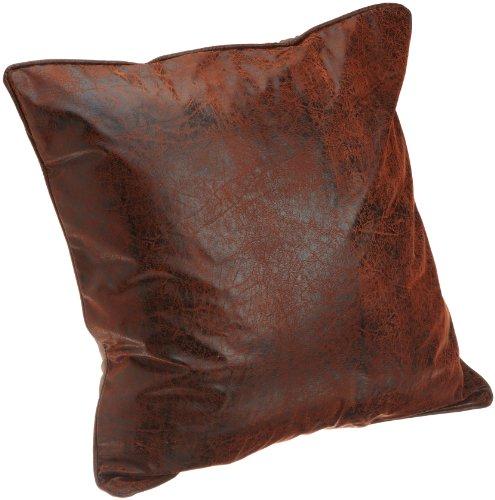 (Croscill Plateau European Sham, 26-inch by 26-inch, Brown)