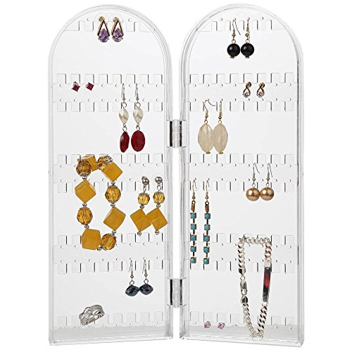 Home-X Acrylic Folding Earring Holder Screen (Jewelry not included)