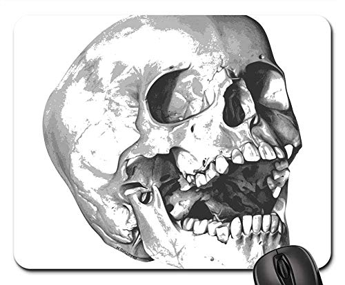 Mouse Pads - Bones Halloween Holiday Skeleton Skull