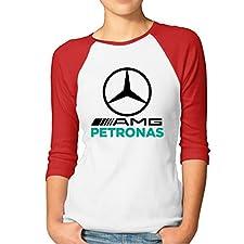 Women's Mercedes AMG Petronas Formula One Team Raglan 3/4 Sleeve T-Shirt