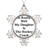 Little devil Daughter Things Hockey Players Say Ideas For Decorating Christmas Trees Holiday Snowflake Ornaments