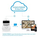 Video & Audio 1080P Home Security Camera,HD 2.0MP WiFi Wireless IP Camera with Motion Detection,7x24h Cloud Storage Surveillance Cam,Night Vision,2-Way Audio, Record Baby Monitor,Work with Alexa Echo
