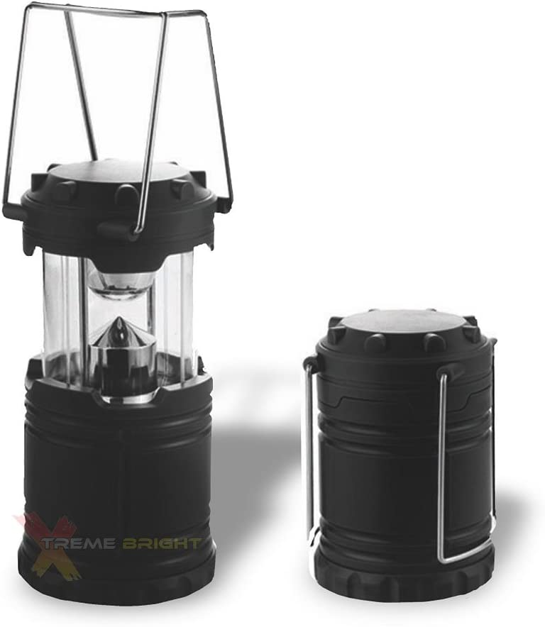 Xtreme Bright Camping Lantern – Fully Collapsible with 7 LED Lights, Weighs only 6 Oz.