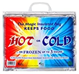 ChefLand Insulated Bag, Keeps Food Hot or Cold up to ''3 Hours'' with Handle, 15'' X 12'' X 6''