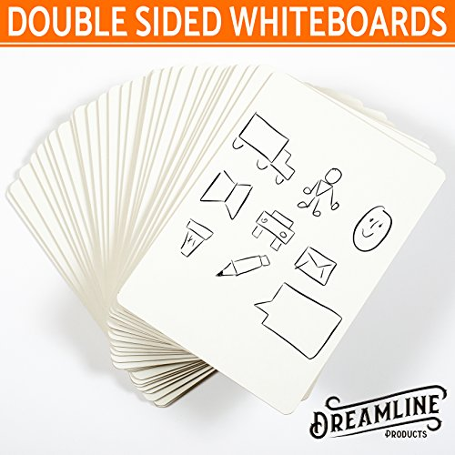 Dry Erase Lapboards (30 Pack) DOUBLE SIDED +Markers/Erasers 9