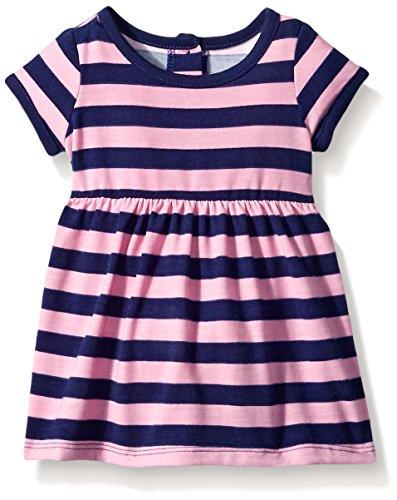 Pink And Purple Striped Dress - 4