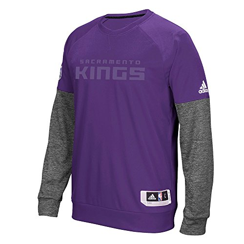 (adidas Sacramento Kings NBA Purple 2016 Christmas Day Second Half Pullover Crew for Men (2XL))