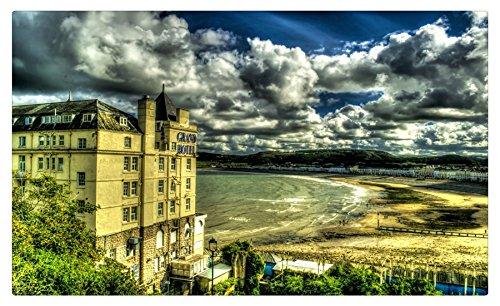 Reino Unido casas Costa Nubes Llandudno Gales hdr ciudades muebles ...