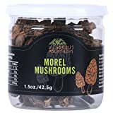 Vigorous Mountains Dried Morel Mushrooms 1.5 Ounce Wild Morchella 2-3cm