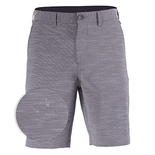 Golf Shorts for Mens Hybrid Boardshorts Stretch Swim Trunks Short Grey - - Barbara Santa Stripes