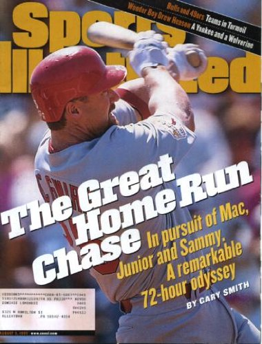 Sports Illustrated August 3 1998 Mark McGwire/St. Louis Cardinals on Cover, Home Run Chase with McGwire Ken Griffey Jr Sammy Sosa, Drew Henson/University of Michigan, Tim Floyd/Chicago Bulls, Dream Team Athens Olympics Basketball