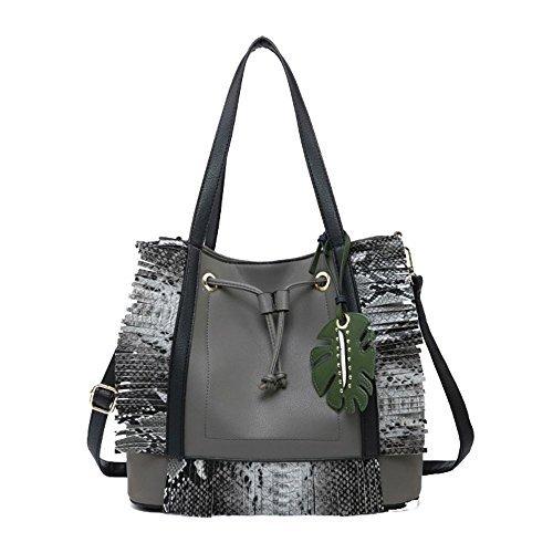 Tropical Bag Leaf Pink Haute Grey Snake For Diva Shopper Dark qwOxF64E