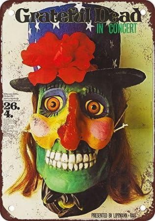 The Grateful Dead en Frankfurt reproducción de aspecto Vintage Metal Tin Sign 8x 12pulgadas