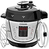 COSORI 2 Quart 7-in-1 Multi-Functional Pressure Cooker with Tempered Glass Lid, Sealing Ring, Steamer Rack, Measuring Cup