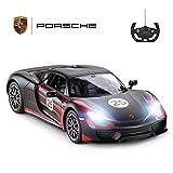 RASTAR RC Car, 1/14 Porsche 918 Spyder Radio Remote Control Racing Toy Car, R/C Model Vehicle, Black