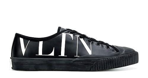 VALENTINO GARAVANI - Zapatillas de Cuero para Hombre Negro Negro Negro Size: 41 EU: Amazon.es: Zapatos y complementos