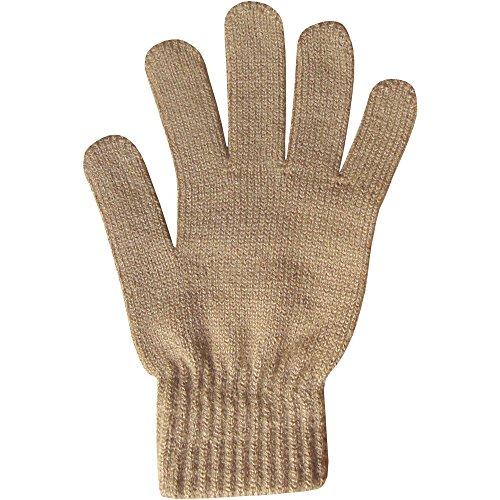 Teddyt's Women's Super Soft Warm Fine Knit Thermal Winter Gloves One Size Tan