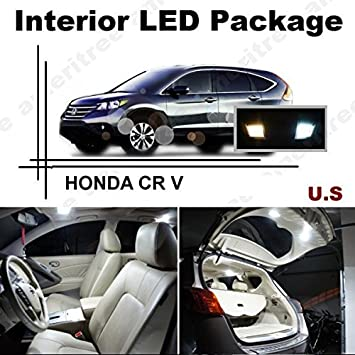 Ameritree Honda CRV 2013 & Up (10 piezas) Xenon blanco LED luces interior paquete