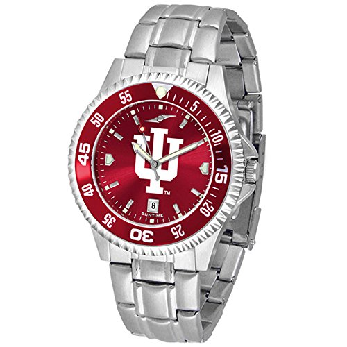 Linkswalker Mens Indiana Hoosiers Competitor Steel Anochrome Bezel Watch