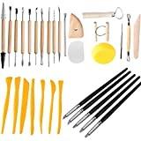 Clay Sculpting Tools - Pottery Sculpture Modeling/Carving Tool 31 PCS Set for Ceramics Beginners and Professional Art Crafts