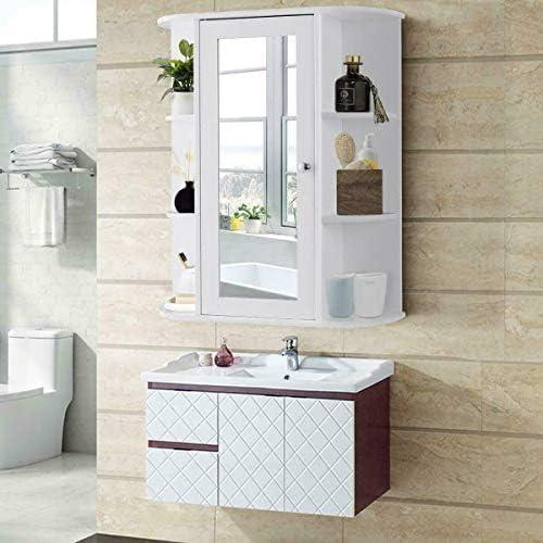 N/W Home Bathroom Wall Mount Cabinet Storage Shelf Over Toilet w/Mirror Door