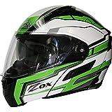 Zox Condor SVS Adult Delta Street Motorcycle Helmet - Green / Large offers