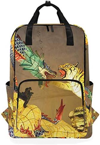 ゴールデンドラゴンタイガーキングショルダーバックパックおむつドクターバッグ旅行デイパック学生ブックバッグ用女性男性女の子