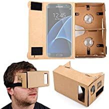DURAGADGET Google Cardboard Virtual Reality Headset - Compatible with the NEW Samsung Galaxy S7 | S7 Edge | S6 | S6 Edge | A9 | J3 | J5 | J7 | C5 and C7 Smartphones